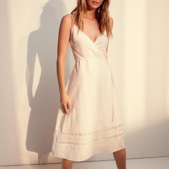 Aritzia Dresses & Skirts - Wilfred Free ivory linen dress size XS